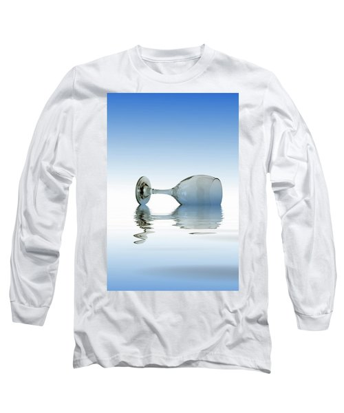 Blue Glass Long Sleeve T-Shirt by David French