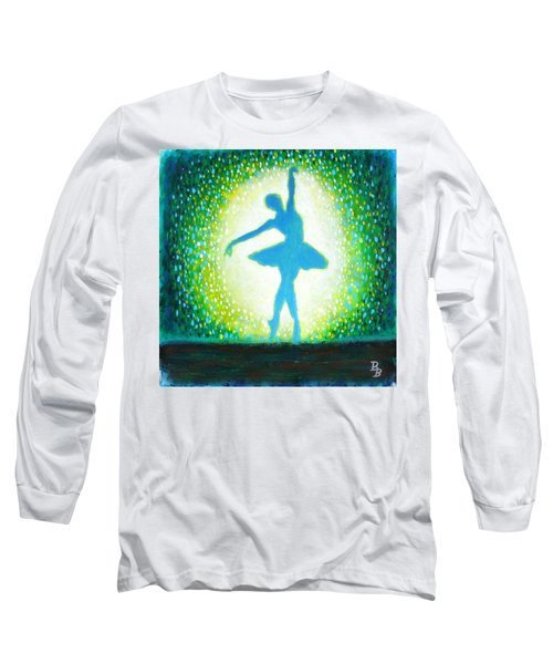 Blue-green Ballerina Long Sleeve T-Shirt