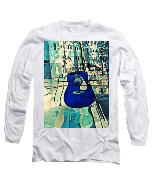 Blue Guitar Long Sleeve T-Shirt