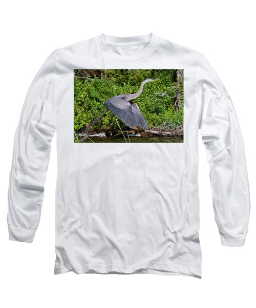 Blue Heron Long Sleeve T-Shirt