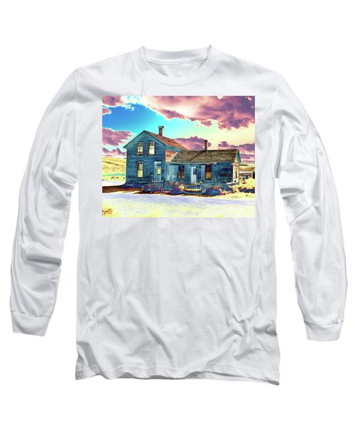 Long Sleeve T-Shirt featuring the photograph Blue House by Jim and Emily Bush