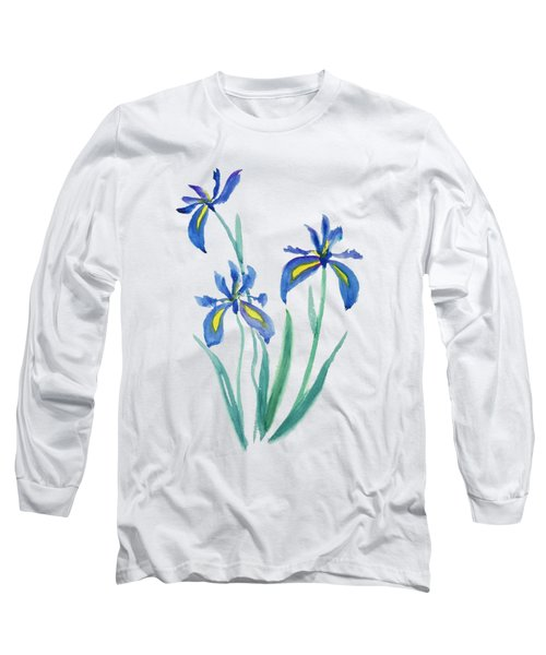 Blue Iris Long Sleeve T-Shirt by Color Color