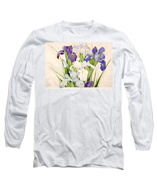 Blue Irises-posthumously Presented Paintings Of Sachi Spohn  Long Sleeve T-Shirt