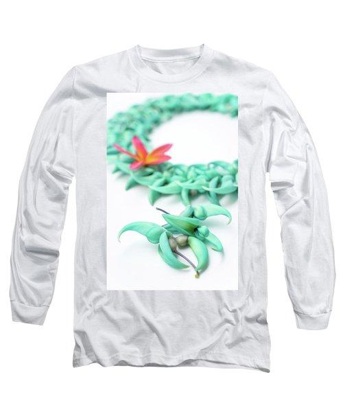 Blue Jade Lei Long Sleeve T-Shirt