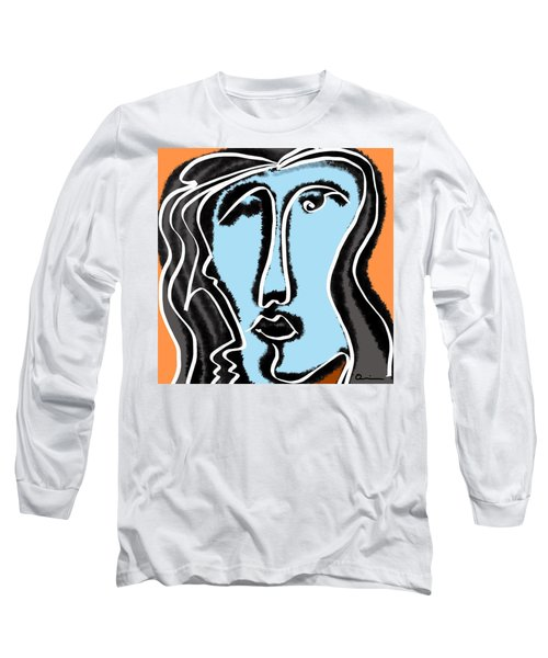 Blue Lady Long Sleeve T-Shirt