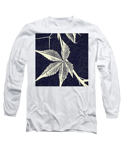 Blue Leaf Long Sleeve T-Shirt