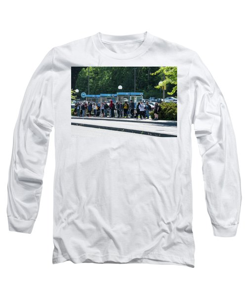 Blue Line On Campus Long Sleeve T-Shirt