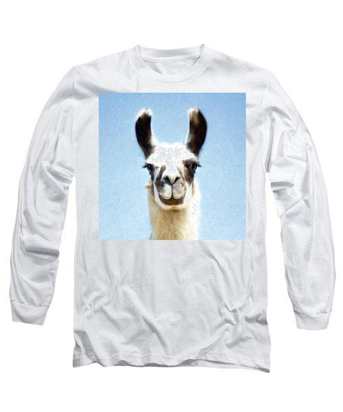 Blue Llama Long Sleeve T-Shirt