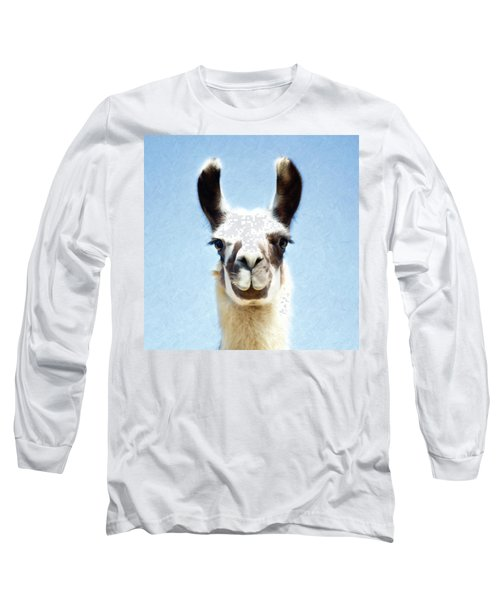 Blue Llama Long Sleeve T-Shirt