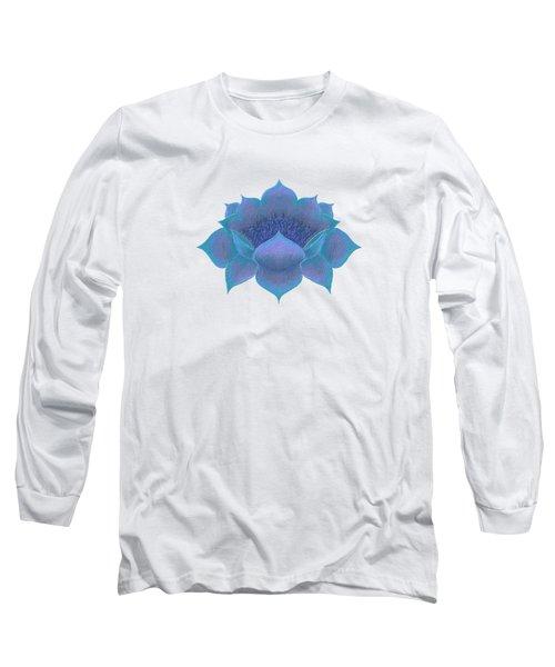 Blue Lotus Long Sleeve T-Shirt