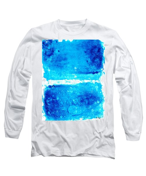 Blue Modern Art - Two Pools - Sharon Cummings Long Sleeve T-Shirt