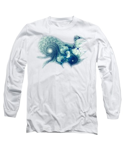 Blue Octopus Long Sleeve T-Shirt by Anastasiya Malakhova