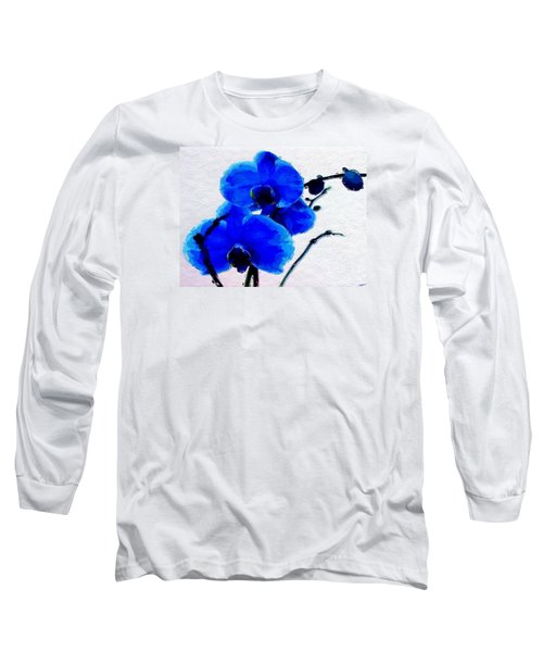 Blue Orchid  Long Sleeve T-Shirt by Anthony Fishburne