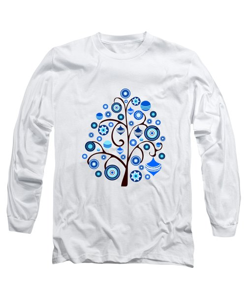 Blue Ornaments Long Sleeve T-Shirt