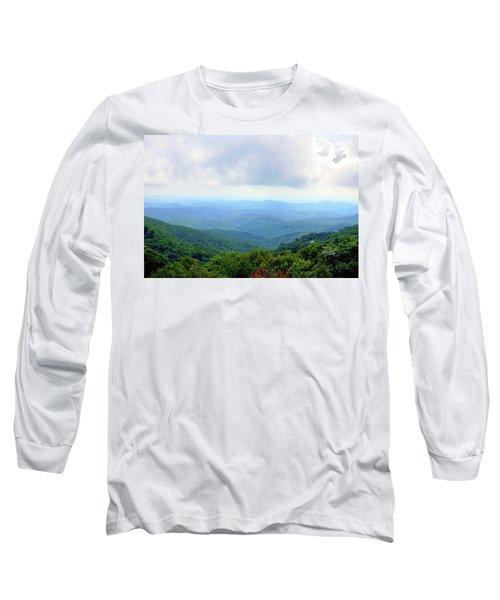 Blue Ridge Parkway Overlook Long Sleeve T-Shirt by Meta Gatschenberger