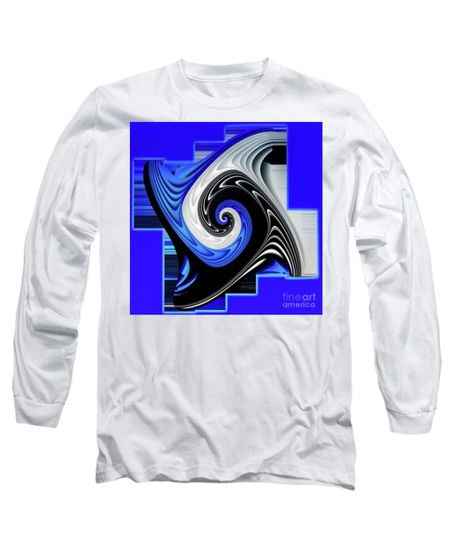 Long Sleeve T-Shirt featuring the digital art Blue River by Shadowlea Is