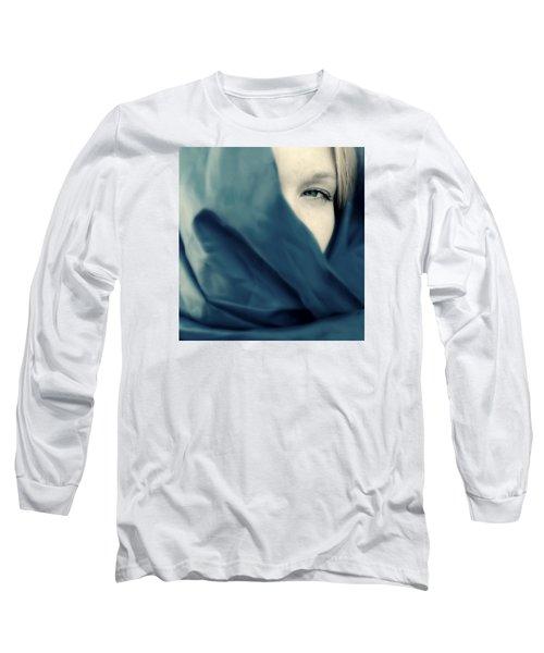 Blue Shawl #02953 Long Sleeve T-Shirt by Andrey  Godyaykin