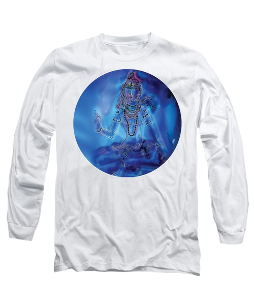 Blue Shiva  Long Sleeve T-Shirt