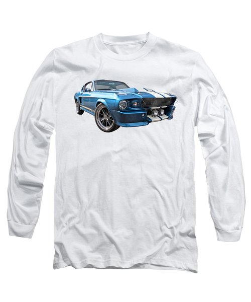 Blue Skies Cruising - 1967 Eleanor Mustang Long Sleeve T-Shirt