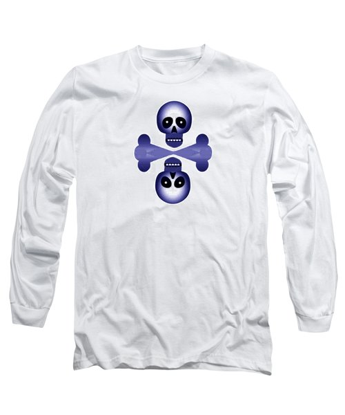 Blue Skulls Long Sleeve T-Shirt