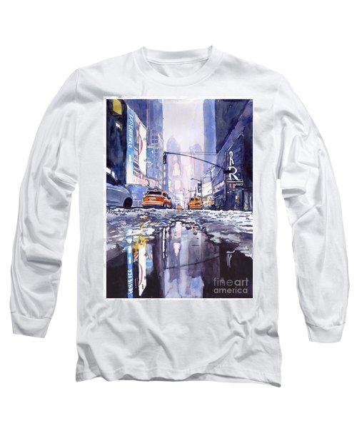 Blue Skyscrapers Long Sleeve T-Shirt