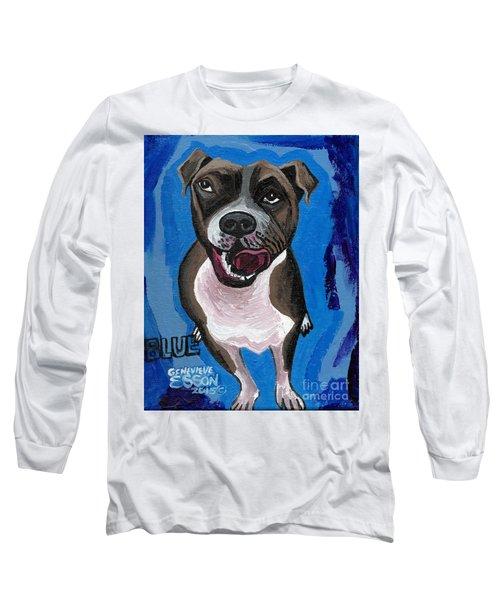 Blue The Pit Bull Terrier Long Sleeve T-Shirt