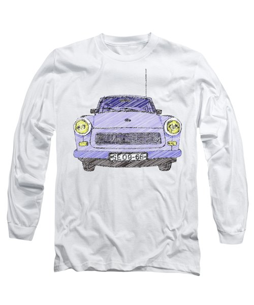 Blue Trabant Long Sleeve T-Shirt