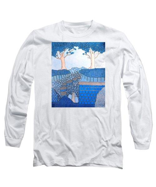 Blue Trees Long Sleeve T-Shirt