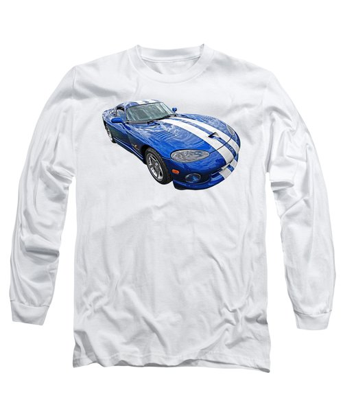 Blue Viper Long Sleeve T-Shirt by Gill Billington