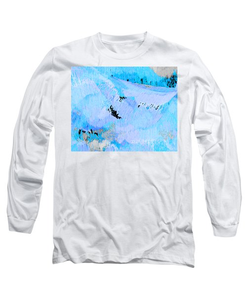 Blue Water Wet Sand Long Sleeve T-Shirt by Stephanie Grant