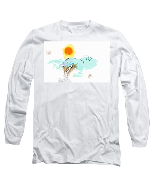 Blue Waterfalll Long Sleeve T-Shirt
