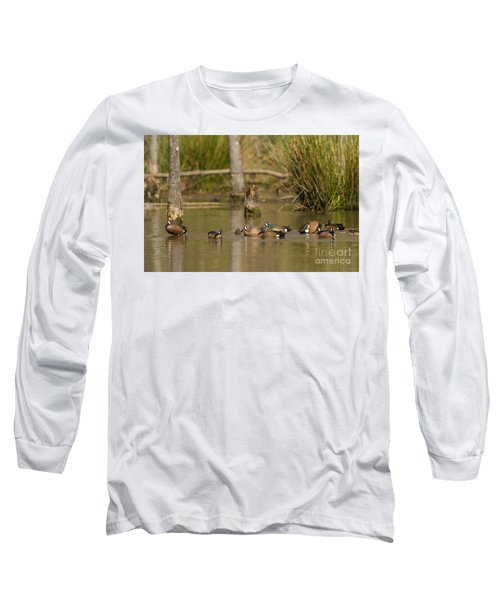 Blue-winged Teal Long Sleeve T-Shirt