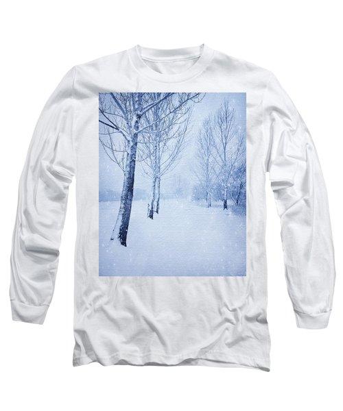 Blue Winter Path Long Sleeve T-Shirt