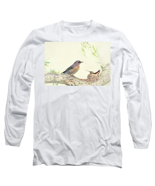 Bluebird And Baby Hummer Long Sleeve T-Shirt