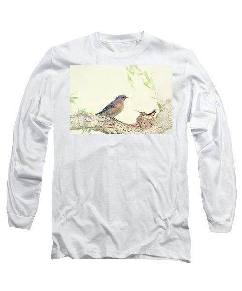 Bluebird And Baby Hummer Long Sleeve T-Shirt