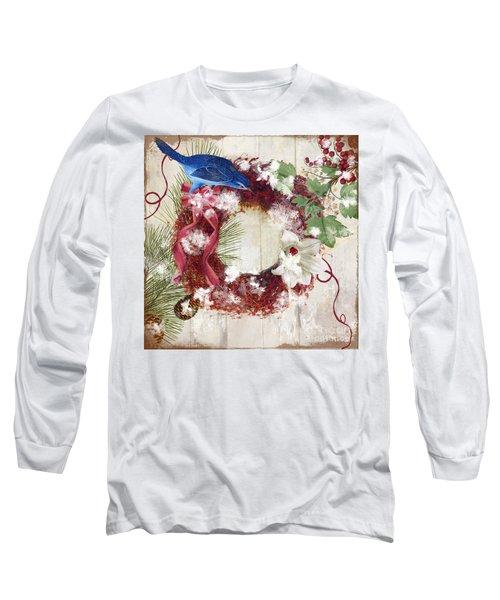 Bluebird Christmas I Long Sleeve T-Shirt