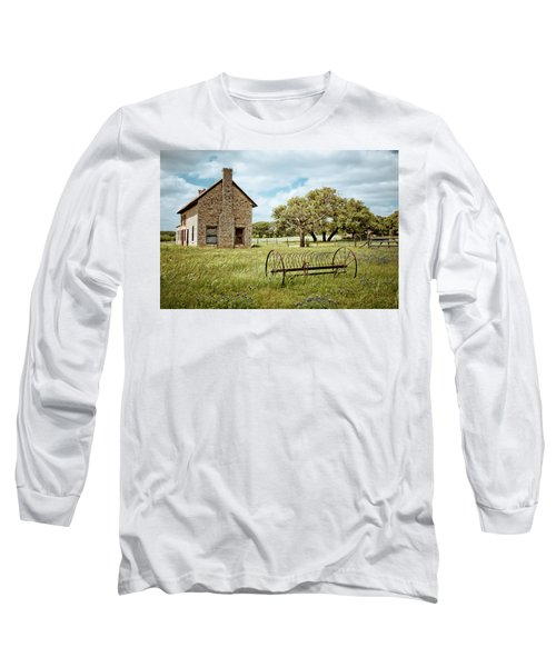 Long Sleeve T-Shirt featuring the photograph Bluebonnet Dreams by Linda Unger