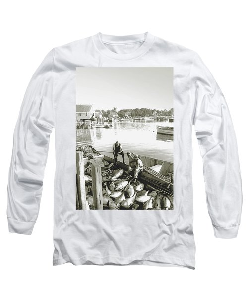 Bluefin Tuna At Barnstable Harbor Long Sleeve T-Shirt by Charles Harden