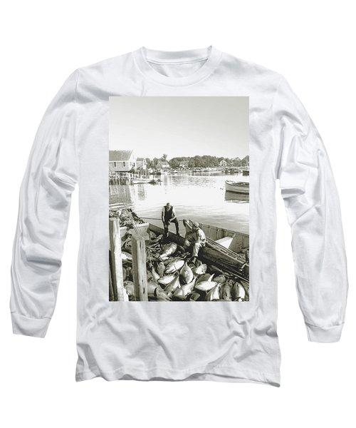 Bluefin Tuna At Barnstable Harbor Long Sleeve T-Shirt