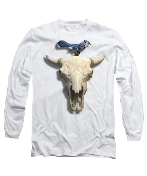 Bluejay And The Buffalo Skull Long Sleeve T-Shirt