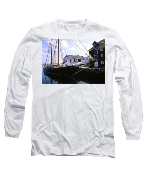 Bluenose II At Historic Properties Halifax Nova Scotia Long Sleeve T-Shirt
