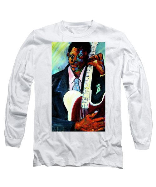 Blues Boy Long Sleeve T-Shirt by Les Leffingwell