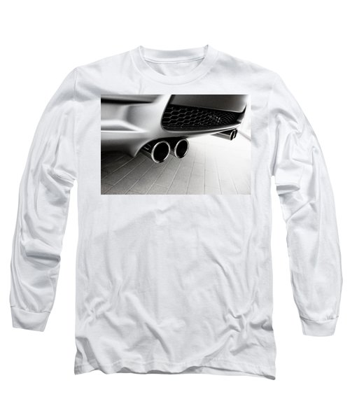Bmw M3 Exhaust  Long Sleeve T-Shirt by Aaron Berg