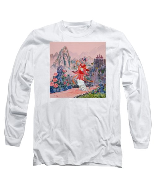 Long Sleeve T-Shirt featuring the painting Bo Chaa by Anthony Lyon
