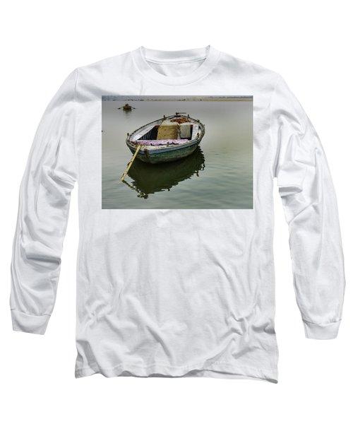 boat at Ganges Long Sleeve T-Shirt