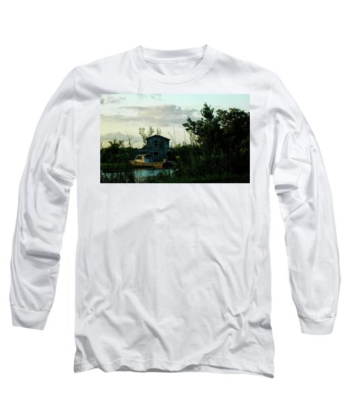Boat House Long Sleeve T-Shirt by Cynthia Powell
