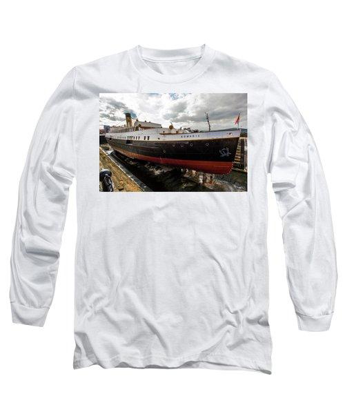 Boat In Drydock Long Sleeve T-Shirt