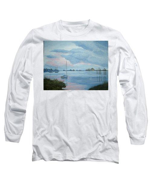 Boat Sunset Long Sleeve T-Shirt