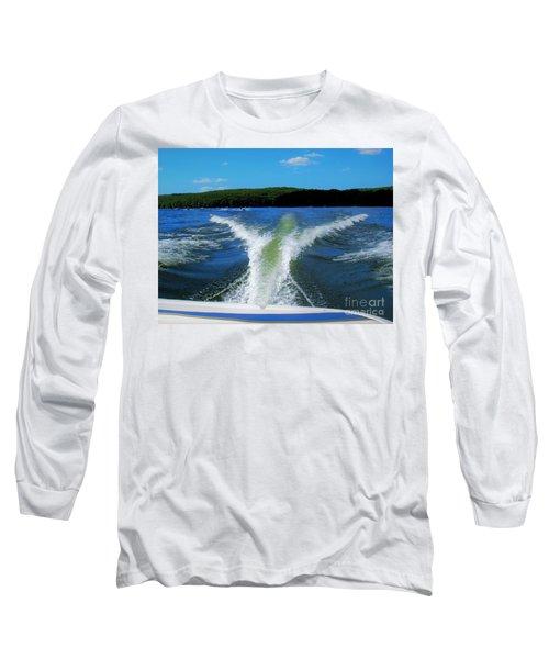 Boat Wake Long Sleeve T-Shirt