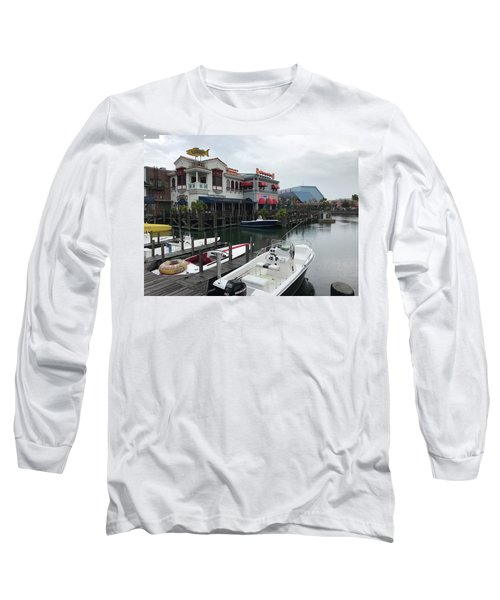 Long Sleeve T-Shirt featuring the photograph Boat Yard by Michael Albright